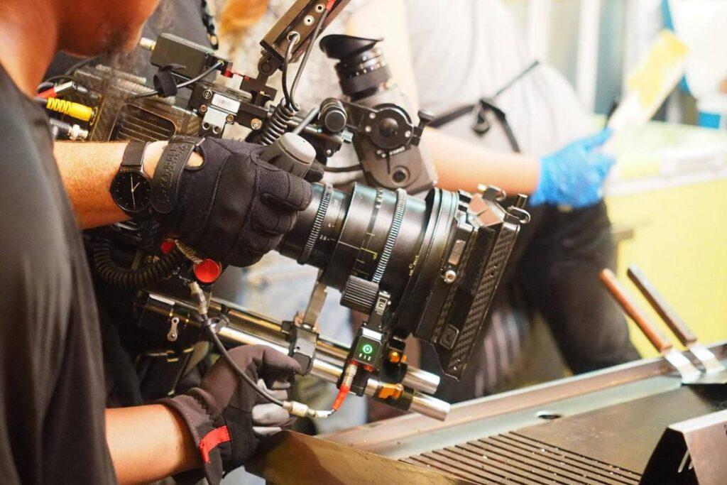 Film Crew and Equipment in Laos