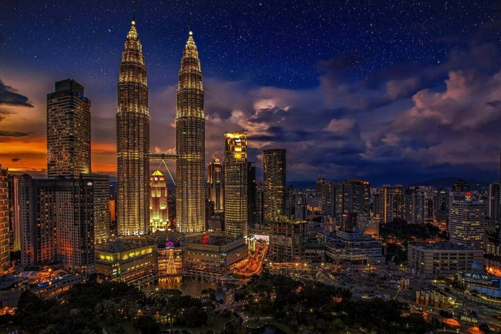 Malaysia Video Production Locations - Kuala Lumpur Petrona Towers City Skyline
