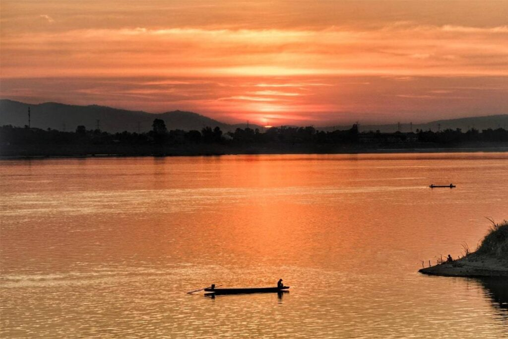 Mekong River Sunset View set up for Video Production