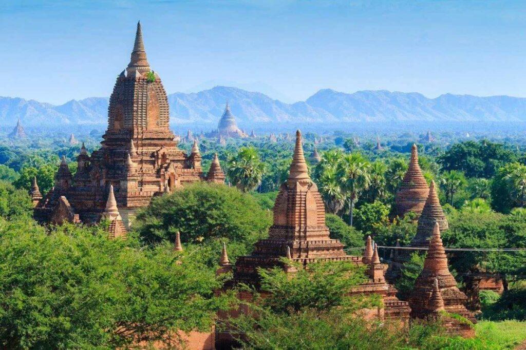Myanmar Video Production set up for Aerial shot at scenic Bagan